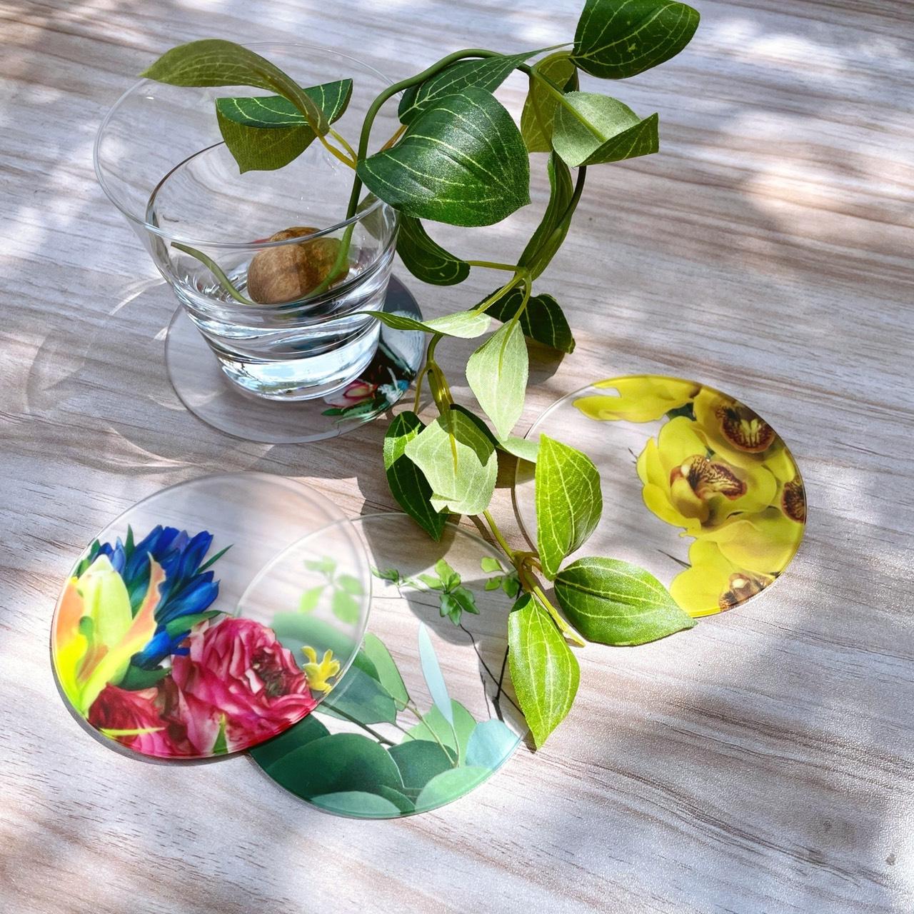 押し花や水彩が可愛い、トウメイcoaster
